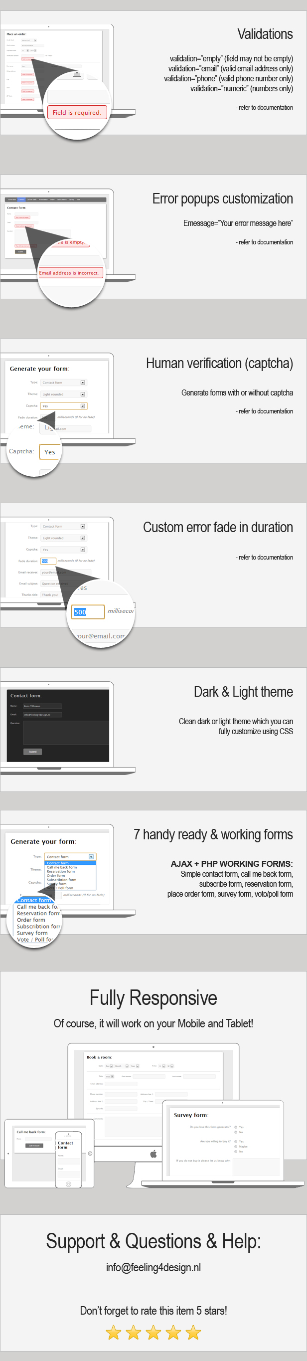 Multiple contact forms generator (AJAX + PHP) Download