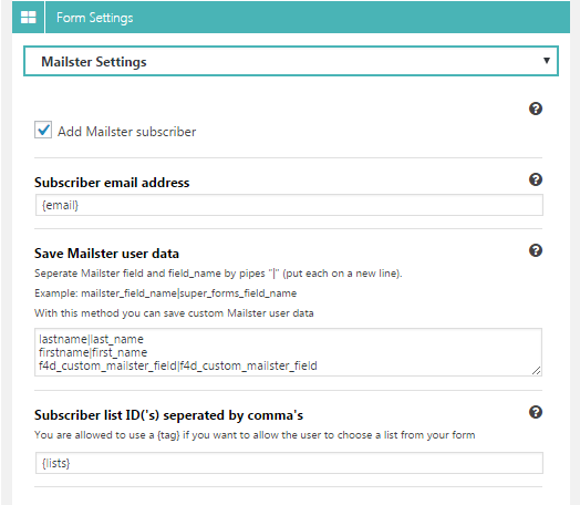 Super Forms - Mailster Add-on - 1  Download Super Forms – Mailster Add-on nulled settings1